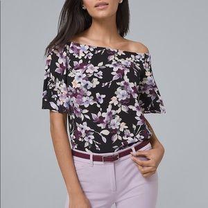 Flirty floral top.